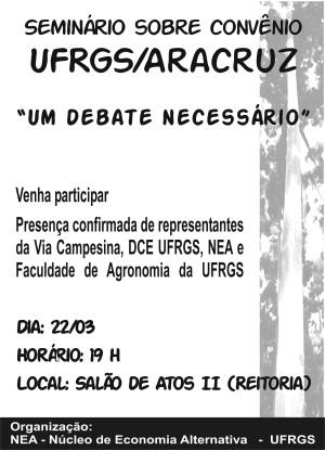 Cartaz Seminário Convêniio Aracruz