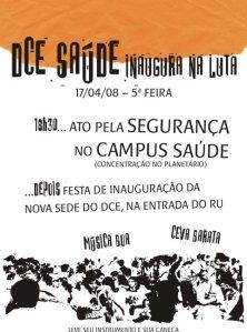 Ato e Festa Campus Saúde 17-04 a partir das 18h30min