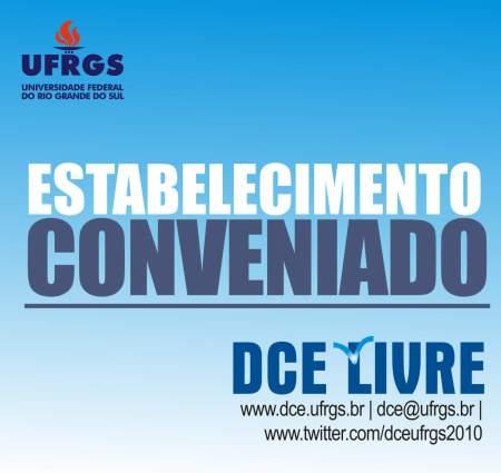 Adesivo que identifica as empresas conveniadas com o DCE